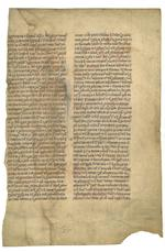 LEAVES— ENGLISH. BALBI, GIOVANNI. ?-c.1298. Latin manuscript on vellum, Catholicon. [England, mid-14th century.]
