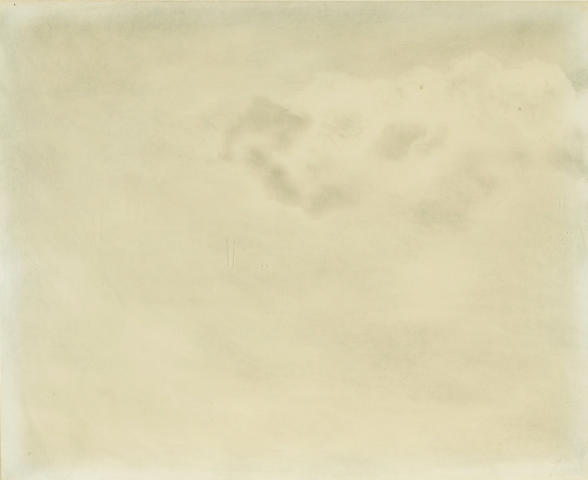 Joe Goode (born 1937) Cloud Drawing, 1968 20 1/2 x 24 7/8in (52.1 x 63.2cm)