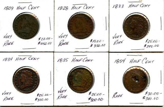 Half Cents (6)