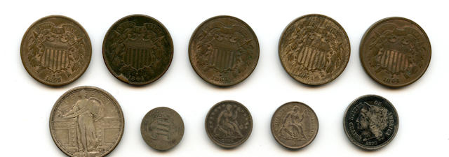 1864 (4), 1865 2C