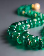 An emerald and diamond necklace, Bulgari
