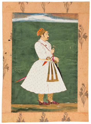 A portrait of a ruler  Marwar, 19th century