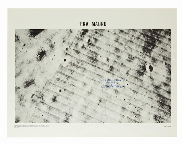 SITE CHART OF THE THIRD LUNAR LANDING—SIGNED. Fra Mauro. Published by the U.S. Army Topographic Command for NASA.