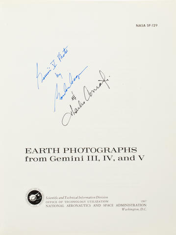 PHOTOGRAPHY FROM THE FIRST GEMINI FLIGHTS. THE BEGINNINGS OF THE ASTRONAUT AS PHOTOGRAPHER. Earth Photographs from Gemini III, IV, and V. NASA SP-129. Washington: 1967.
