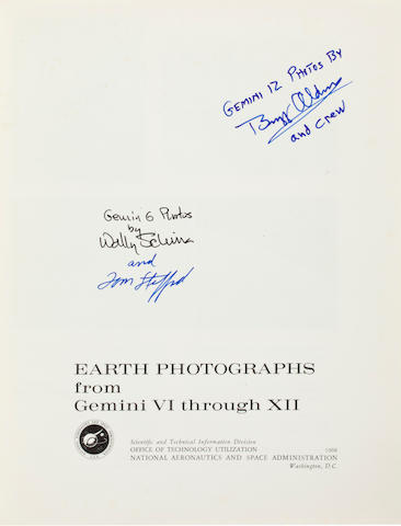 PHOTOGRAPHY FROM THE LAST GEMINI FLIGHTS. THE ASTRONAUT PERFECTS HIS ROLE AS PHOTOGRAPHER.<BR />Earth Photographs from Gemini VI through XII.  NASA SP-171. Washington: 1968.