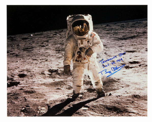 TRANQUILITY BASE, JULY 20, 1969. Large color photograph, 16 x 20 inches.