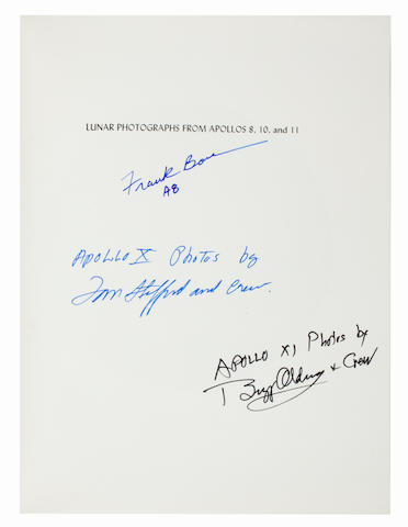 LUNAR PHOTOGRAPHY BY THE ASTRONAUTS—SIGNED. MUSGROVE, ROBERT G., editor. Lunar Photographs from Apollos 8, 10, and 11. NASA SP-246. Washington: 1971.