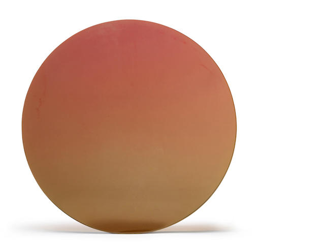 De Wain Valentine (born 1936) Orange disc, 1971 17 1/4 x 17 1/4 x 1 1/8in (43.8 x 43.8 x 2.9cm)