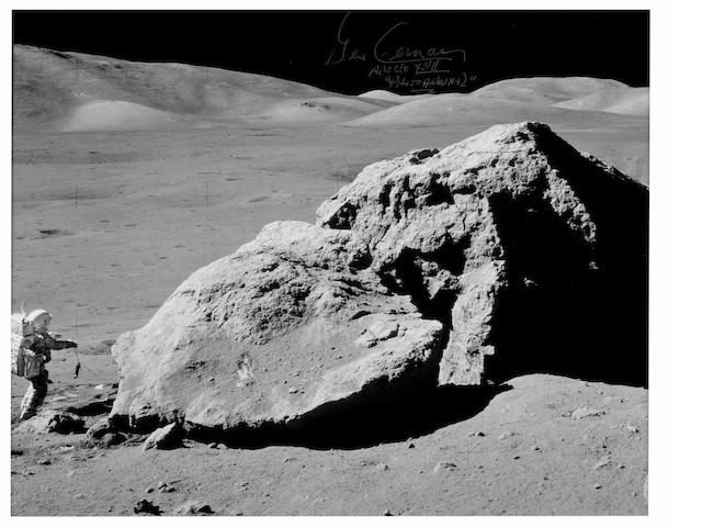 MOON BOULDER. Large color photograph, 16 x 20 inches.
