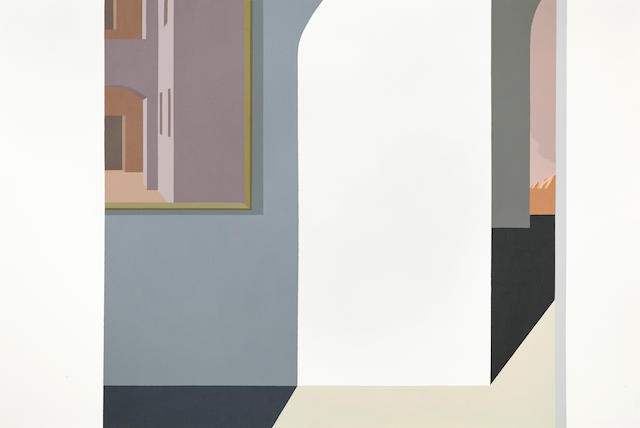 Helen Lundeberg (1908-1999) The Painting after degli Erri, 1983 40 x 60in (101.6 x 152.4cm)