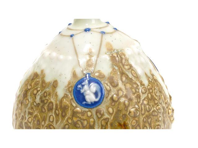 Taxile-Maximin Doat porcelain and gres gourd form vase