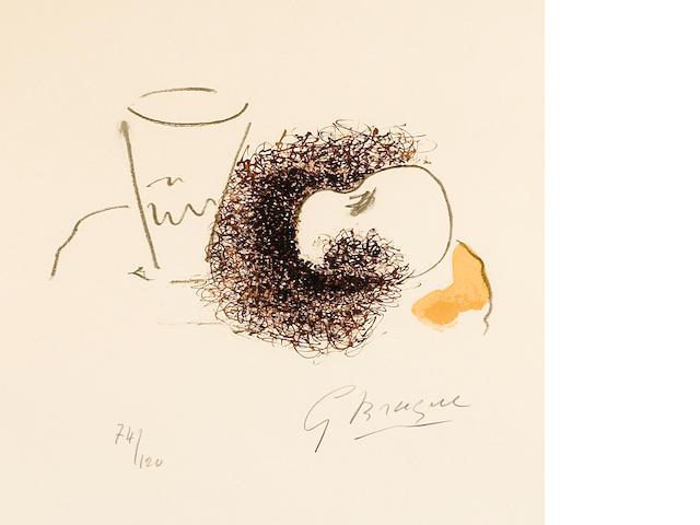 Georges Braque (1882-1963); Verre et la Pomme, from Georges Braque, dix oeuvres;