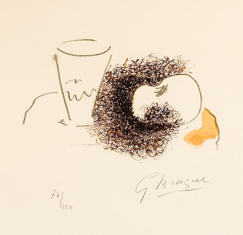 Georges Braque (1882-1963); Verre et la Pomme, from Georges Braque, dix oeuvres;