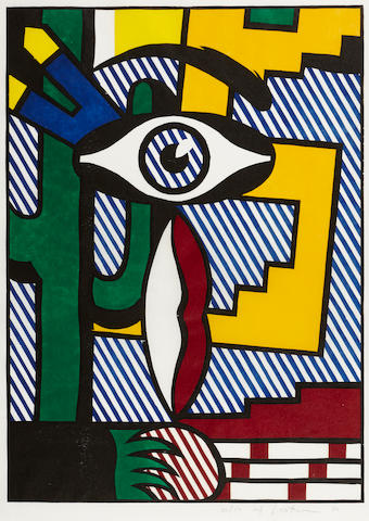 Roy Lichtenstein (1923-1997); American Indian Theme III;