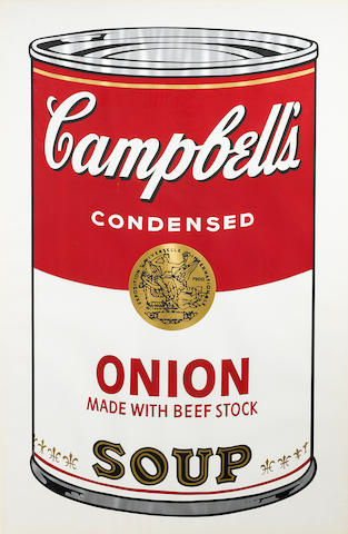 Andy Warhol (1928-1987); Onion Soup, from Campbell's Soup I;