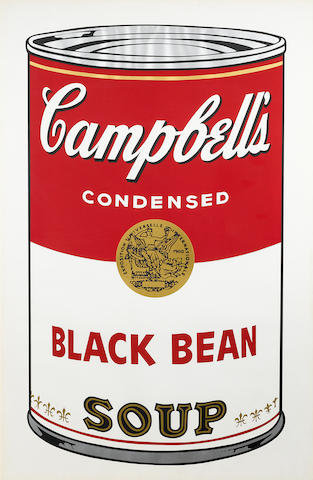 Andy Warhol (1928-1987); Black Bean, from Campbell's Soup I;
