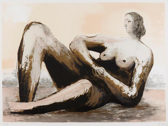 Henry Moore (1898-1986); Reclining Woman III;