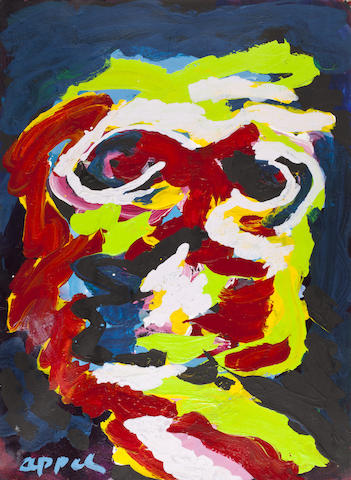 Karel Appel (1921-2006) Head of a Man, 1956 19 1/2 x 15in. (49.5 x 38.1cm)