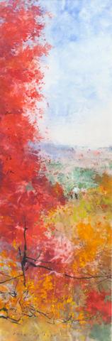 Chen Chi (Cheng Ji), (1912-2005) Autumn Landscape, 1960