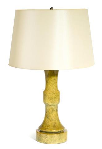 A William Haines glazed ceramic table lamp