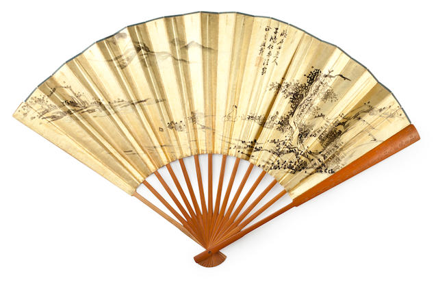 Wu Xizai (1799-1870) Two Folding Fans