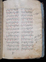 FAIRUZABADI. 1329-1414. Arabic manuscript on paper, a portion of Al-Qamus Al-Muhit wa al-Qabus al-Wasit. [Ottoman Empire: 17th century.]<BR />