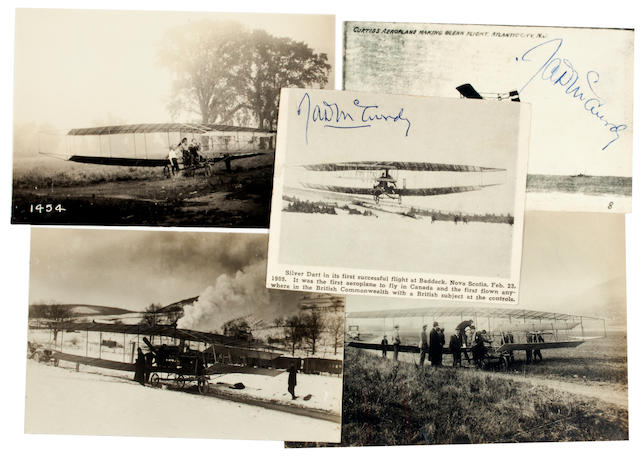 SILVER DART, 1908. Group of 4 black and white photographs, 4½ x 6½ inches and smaller.