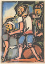 Georges Rouault (French, 1871-1958); Homme conduisant un autre, from Passion;