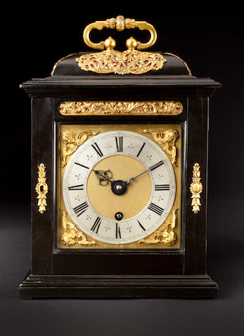 A fine and rare Charles II ebony quarter repeating timepiece Thomas Tompion, London, No. 93, circa 1685