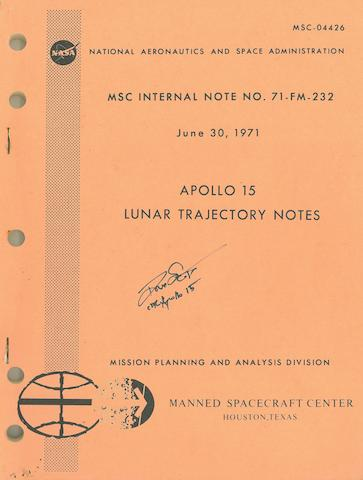LUNAR TRAJECTORY NOTES—FIRST ROVER MISSION. Apollo 15 Lunar Trajectory Notes.  MSC Internal Note No. 71-FM-232. Houston, TX: NASA/MSC, June 30, 1971.