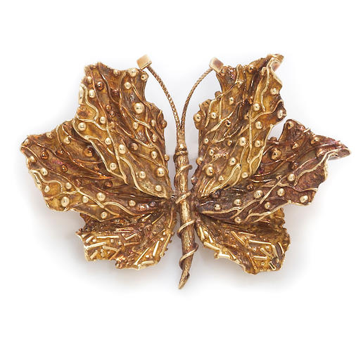 An eighteen karat gold butterfly brooch, Tiffany & Co.