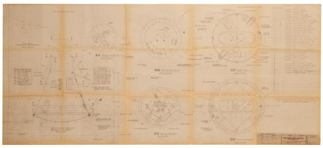 "LITTLE JOE BLUEPRINTS. 1. ""Little Joe Capsule & Adapter,"" blueprint, July 14, 1959."