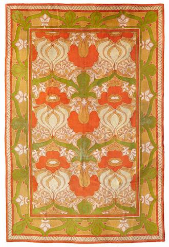 A Charles F.A. Voysey Donnemara Donegal wool carpet circa 1905