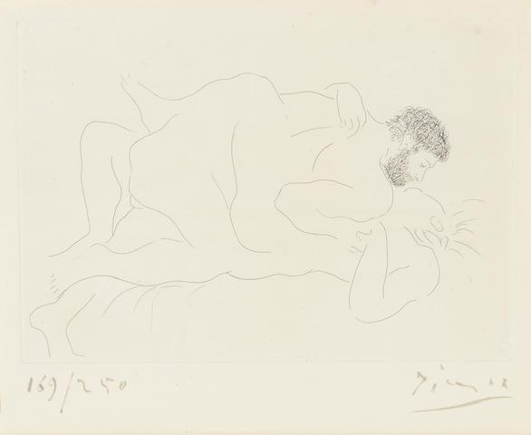 Pablo Picasso (1881-1973); Homme et Femme;