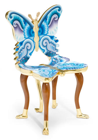 Pedro Friedeberg (Mexican, born 1937) Butterfly Chair, 1988