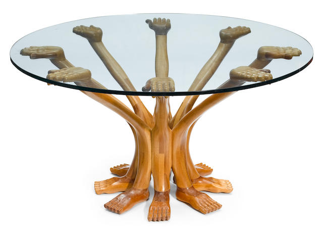 Pedro Friedeberg (Mexican, born 1937) Eight Hand & Foot Table