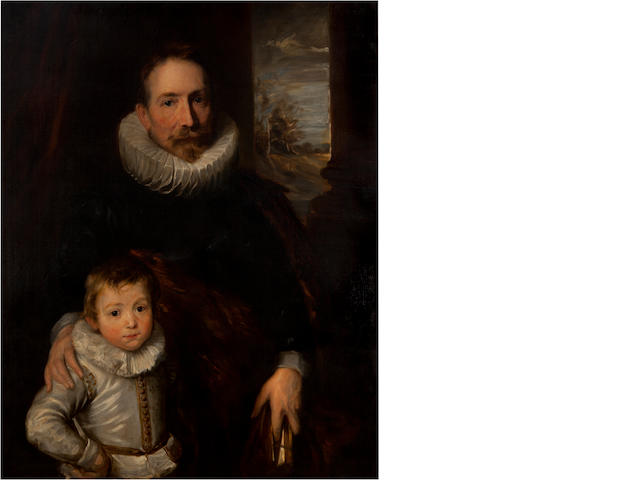 After Anthony Van Dyck (1599-1641)<BR />Portrait of Joannes<BR />oil on canvas<BR />40 x 32 inches