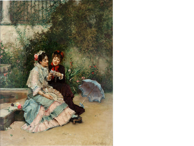 Raimundo de Madrazo y Garretta (Spanish, 1841-1920) The letter 32 x 25 1/4in (81.4 x 64.2cm)