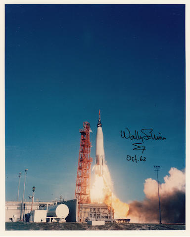 SCHIRRA'S LAUNCH. Color photograph, 10 x 8 inches.