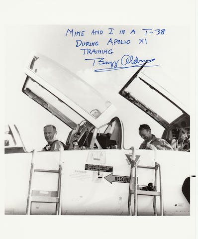 THE ONLY WAY TO FLY TO THE CAPE. Black and white photograph, 10 x 8 inches, with NASA text printed on verso.