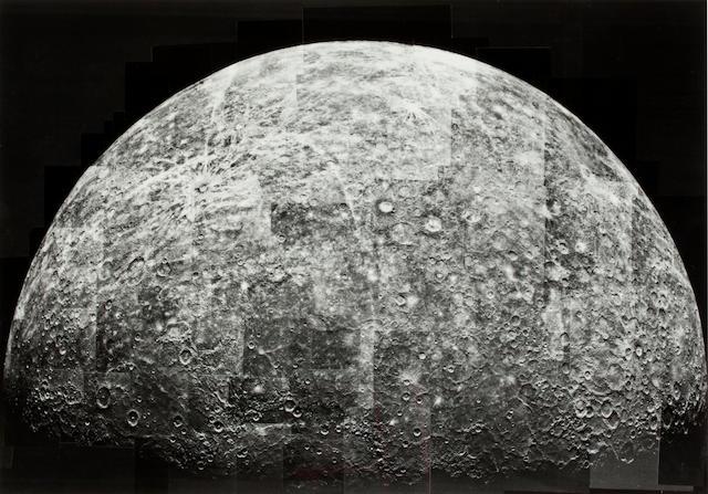 PLANET MERCURY—ATLAS. DAVIES, MERTON E., AND OTHERS. Atlas of Mercury. [Washington, DC?]: Office of Space Sciences, NASA, December 1976.