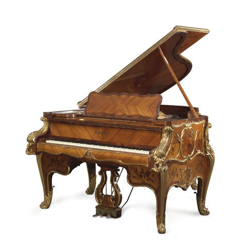 A very fine and historical Louis XV style gilt bronze mounted kingwood and marquetry Steinway art case piano<BR />Model L, Serial No. 23914; Case No. C3264<BR />1924-1925