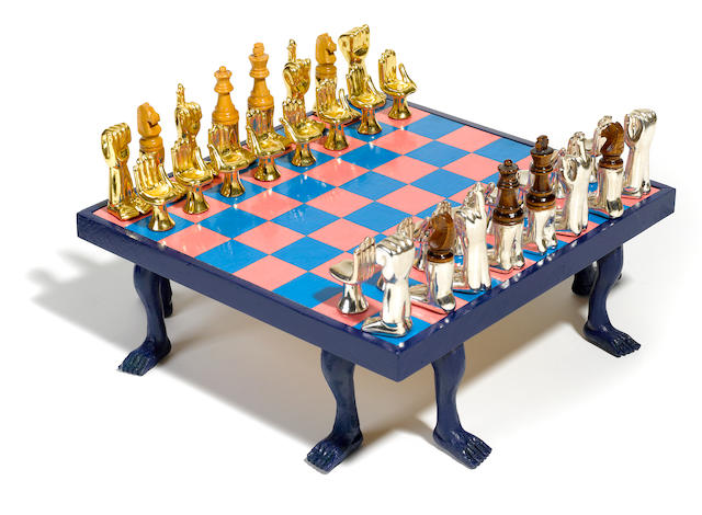 Pedro Friedeberg (Mexican, born 1937) Chess Set