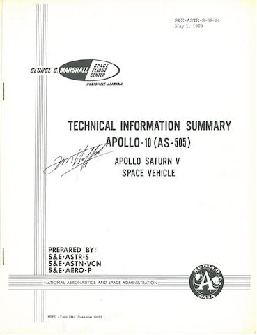 STAFFORD'S APOLLO 10 MANUALS. 1. Technical Information Summary, Apollo 10.