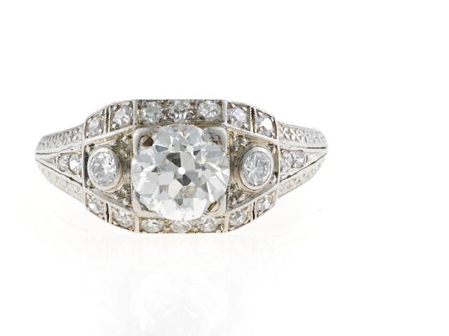 An antique diamond ring,