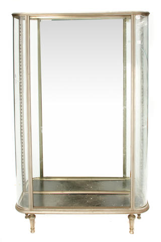 An Art Deco polished steel vitrine cabinet