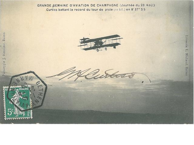 GLENN CURTISS COLLECTION. A substantial collection of photographs, documents and ephemera relating to Glenn Curtiss. images comprising:
