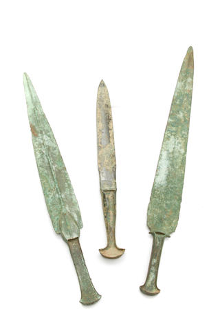 A group of three Luristan swords