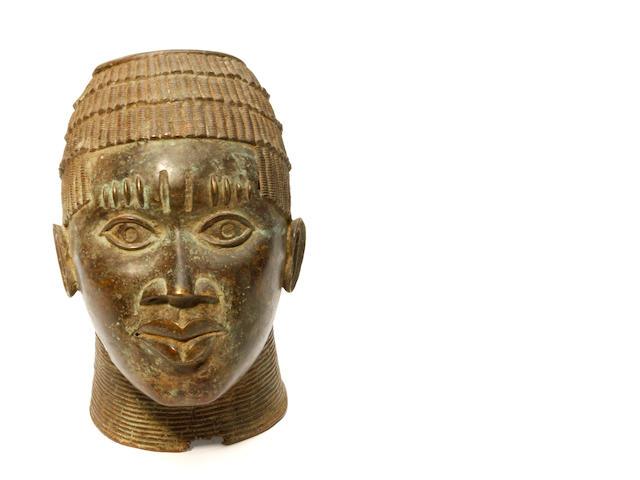 Benin bronze bust