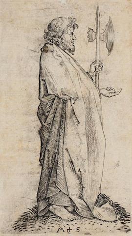 Martin  Schongauer (1445-1491); St. Matthew, from The Twelve Apostles;